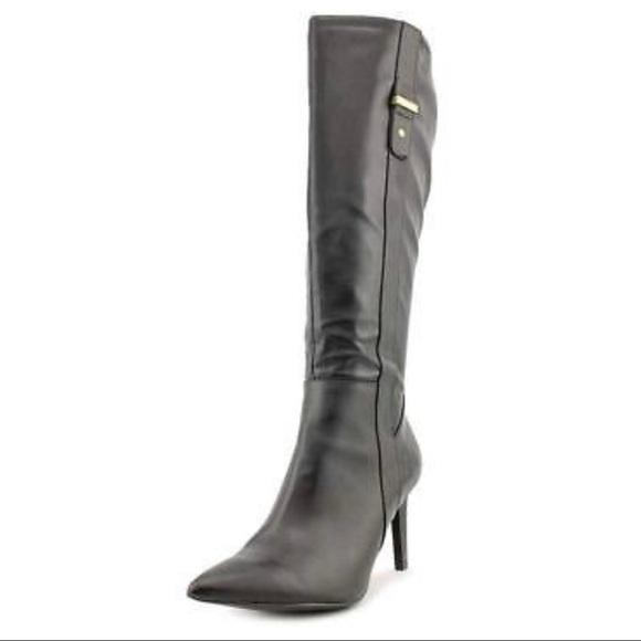 7c3ac3b685d Calvin Klein Bellina black knee-high boots 7.5 M
